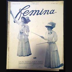 1. Femina n°158 - 15 Août 1907 aux éditions Pierre Lafitte & Cie