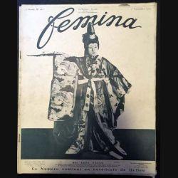 1. Femina n°163 - 1er Novembre 1907 aux éditions Pierre Lafitte & Cie