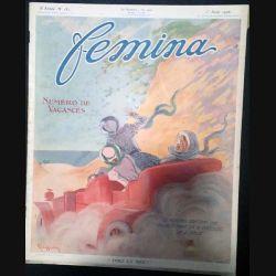 1. Femina n°181 - 1er Août 1908 aux éditions Pierre Lafitte & Cie