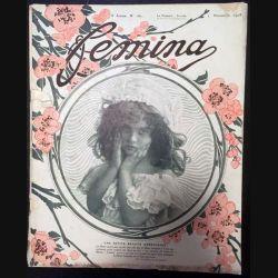 1. Femina n°187 - 1er Novembre 1908 aux éditions Pierre Lafitte & Cie