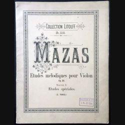 1. Mazas Etudes mélodiques pour Violon
