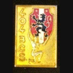 404° BS : insigne métallique du 404° bataillon de commandement et des services de fabrication Arthus Bertrand 2305 en émail