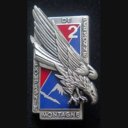 6° RPIMA : insigne métallique de la 2° compagnie du 6° Régiment parachutiste d'infanterie de marine de fabrication Drago Paris