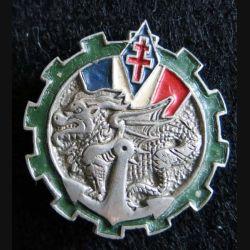 TTFIS: insigne métallique du Train des Troupes Françaises d'INDOCHINE Sud