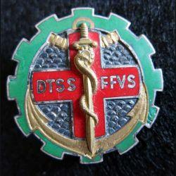DTSS FFVS: insigne métallique de Direction du Train du Service de Santé au Viet Nam Sud