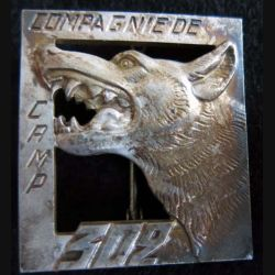 302° CC: Insigne métallique de la 302° Compagnie de Camp fabrication Drago Oivier Métra