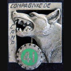 41° CC: Insigne métallique de la 41° Compagnie de Camp G. 991 en émail