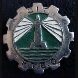 CIT FTEO : Insigne métallique du Centre d'Instruction du Train des FTEO arisanale peint