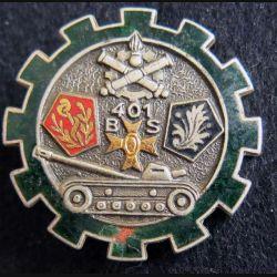 401° BS : 401° Bataillon des ServicesDrago Paris G. 1863 en émail