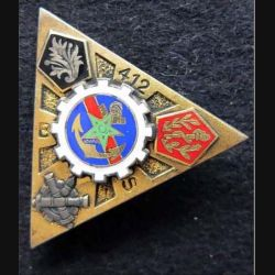 412° BS : 412° Bataillon des Services Drago Paris G. 1860 en émail