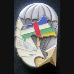 BARRACUDA : insigne métallique de l'opération Barracuda de fabrication Delsart