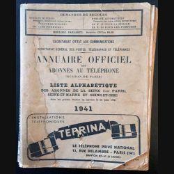1. Annuaire officiel des abonnés au téléphone 1941
