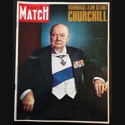 1. PARIS MATCH n°825 30 Janvier 1965 : Hommage à un géant Churchill