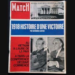 1. PARIS MATCH n°1018 9 Novembre 1968 : 1918 Histoire d'une victoire par Raymond Cartier