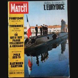 """1. PARIS MATCH n°1088 14 Mars 1970 : Adieu à ceux de """"L'Eurydice"""""""