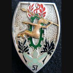57° BS : Insigne métallique du 57° Bataillon des Services Drago Paris G. 2094 émail