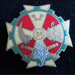 51° BS : Insigne métallique du 51° Bataillon des Services Drago Paris G. 1777 émail
