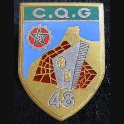 48° CQG : 48° compagnie de quartier général Drago Paris G. 1493 émail