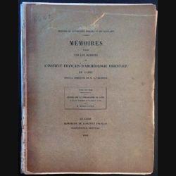 1. Mémoires Tome septième publiés par les membres de l'institut français d'archéologie orientale du Caire