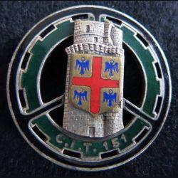 151° CIT : 151° centre d'Instruction du train Drago Paris G. 1221 émail
