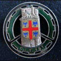 151° CIT : 151° centre d'Instruction du train Drago Paris G. 1221 en émail