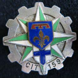 159° CIT :159° centre d'Instruction du train Drago Paris G. 1350 émail