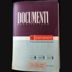 1. Documenti Architettura numero 9 aux éditions Antonio Vallardi