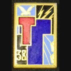 38° RT : 38° RÉGIMENT DE TRANSMISSIONS (DRAGO 576) ÉMAIL