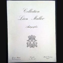 1. Collection Léon Muller autographes