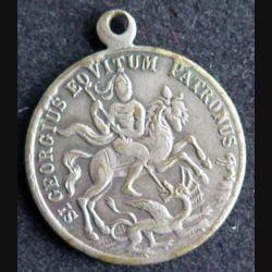 DIVERS : médaille de Saint Georges Intempestate securitas en métal argenté (ou argent ???)