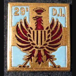 29° DI : 29° division d'infanterie Arthus Bertrand G. 1071 en émail
