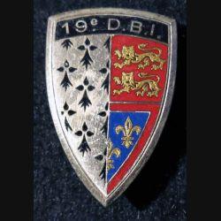 19° DBI :19° demi brigade d'infanterie Drago Paris G. 1033 plat en émail