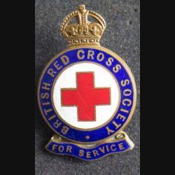 GRANDE BRETAGNE : Badge d'Honneur de la British Red Cross society de fabrication J.R Gaunt London en émail et numérotée M 248