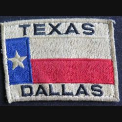 US PATCH : vieil insigne tissu du TEXAS DALLAS de dimension 8 x 5,8 cm
