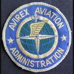 US PATCH : vieil insigne tissu de l'Avirex aviation administration de diamètre 10 cm