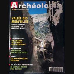 1. Archeologia mensuel n°307 / Décembre 1994 - Vallée des merveilles un lieu de culte au sommet du massif au visage