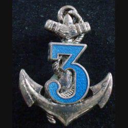 3° RIMA : insigne du 3° régiment d'infanterie de marine de fabrication Boussemart série 2003 translucide
