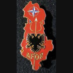 AFOR (Albania Force) opération Trident Albanie Arthus Bertrand grenu doré