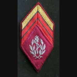 losange de bras modèle 45 Caporal chef Santé : insigne de losange de bras modèle 45 de caporal chef du service de santé troupe
