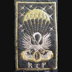 1° RTP : Insigne tissu du 1° régiment du train parachutiste 9,3 x 5,5 cm