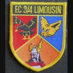 EC 3/4 : insigne tissu de l'escadron de chasse 3/4 Limousin 6,8 x 8,2 cm