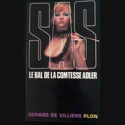 1. SAS Le Bal de la comtesse Adler de Gérard de Villiers aux éditions Plon