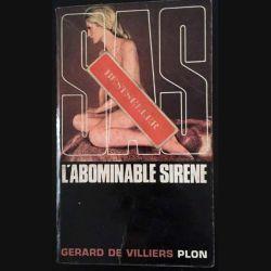 1. SAS L'abominable sirène Adler de Gérard de Villiers aux éditions Plon