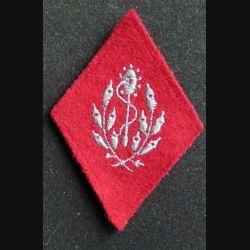 losange de bras modèle 45 : insigne tissu d'auxiliaire service santé troupe