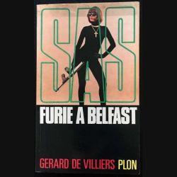 1. SAS Furie à Belfast de Gérard de Villiers aux éditions Plon