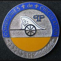 POLICE : plaque métallique de la compagnie de circulation de la préfecture de police de Paris pour portefeuille de fabrication Ballard (6)