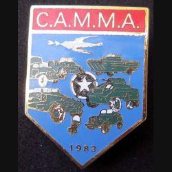 MILITARIA : insigne métallique de la CAMMA club des amateurs militaires de matériels anciens sur son cuir (6)