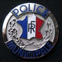 POLICE : insigne métallique de la police municipale de Cannes pour porte insigne (6)