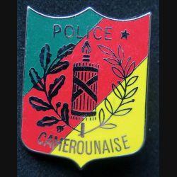 POLICE : insigne métallique de la police camerounaise de fabrication made in France