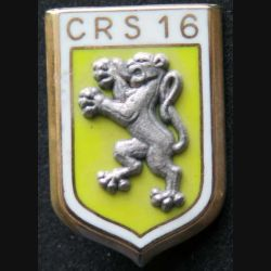 CRS 16 : insigne de la compagnie républicaine de sécurité n°16 de fabrication Ballard